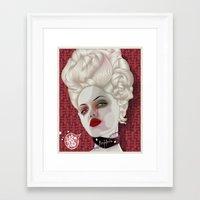 marie antoinette Framed Art Prints featuring Marie Antoinette by MORPHEUS