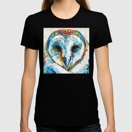 Colorful Barn Owl Art - Birds by Sharon Cummings T-shirt