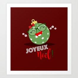 Boule de Noël (verte pastel) Art Print