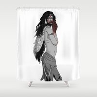 princess mononoke Shower Curtains featuring princess mononoke by Nioko