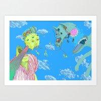 Sky Guys Art Print