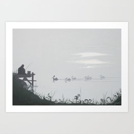 Misty Morning on the Clarence (1994) Art Print