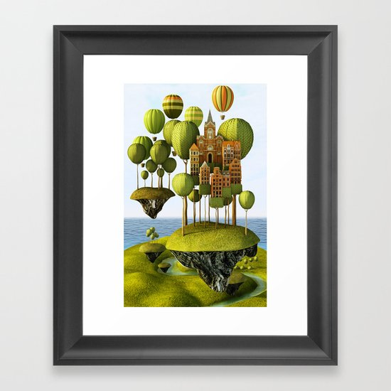 City in the Sky Framed Art Print