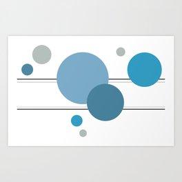 Circles In Transit Blues Art Print