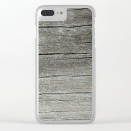 Ash Bark Clear iPhone Case