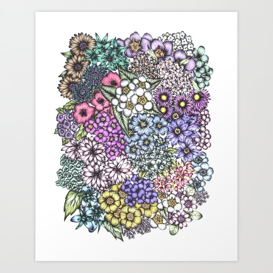 A Bevy of Blossoms Art Print