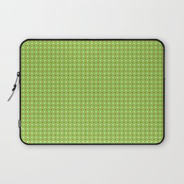 Red And White Polka Dot Christmas Pattern Laptop Sleeve