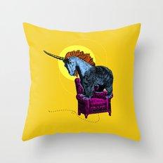Get off the furniture, Unibear Throw Pillow