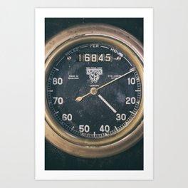 Vintage Speedometer Art Print