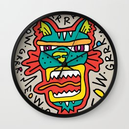 MEOWGR TIGER Wall Clock