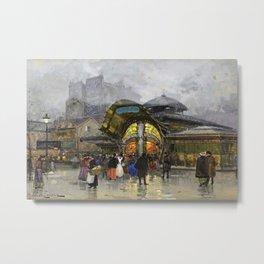 Underground Metro, Paris, France by Eugene Galien Laloue Metal Print