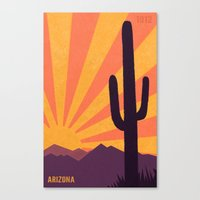 arizona Canvas Prints featuring Arizona by AtomicChild