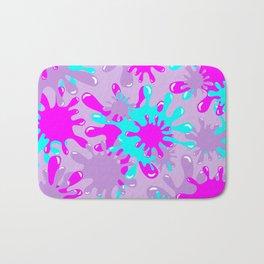 Slime in Lavender, Pink & Blue Bath Mat
