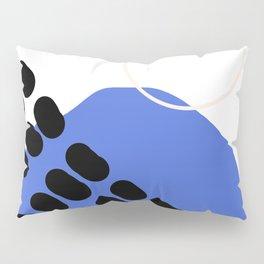 Abstract shapes- dark blue Pillow Sham