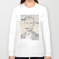lincoln Long Sleeve T-shirts featuring Lincoln by Sandra T
