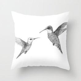 Hummingbird Pair Throw Pillow