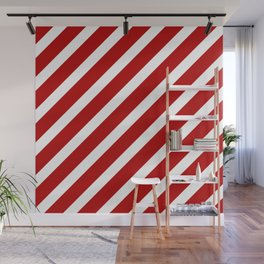 Candycane Large Stripe Wall Mural