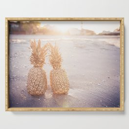 Golden Pineapples Serving Tray