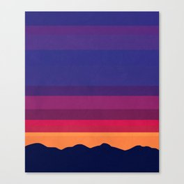 Over The Sunset Mountains Canvas Print