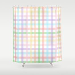 Gingham Squares Shower Curtain