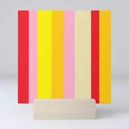 Bold Color - RED, YELLOW, AND PINK Mini Art Print