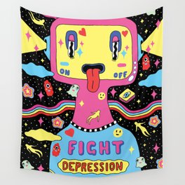 Fight Depression Wall Tapestry