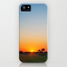 Countryside sunset iPhone Case