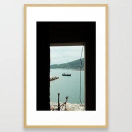 Boat in Portovenere Framed Art Print