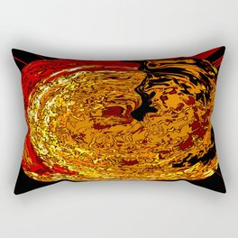 Oval Disapproval Rectangular Pillow