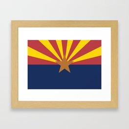 Flag of Arizona Framed Art Print