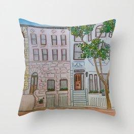 Brownstones Throw Pillow
