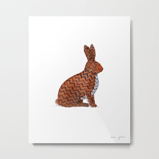 zig zag rabbit Metal Print
