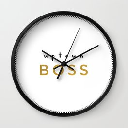Uptown Boss Wall Clock