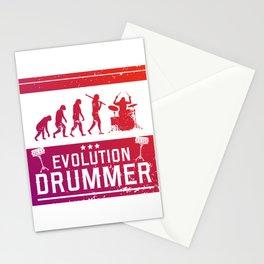 Evolution Drummer | Drums Musician Stationery Cards