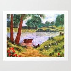 Peaceful Lake Art Print