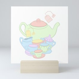 Mad Hatter Tea Party  Mini Art Print