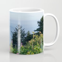 Otter Rock, Oregon from Cape Foulweather Vantage Point Coffee Mug