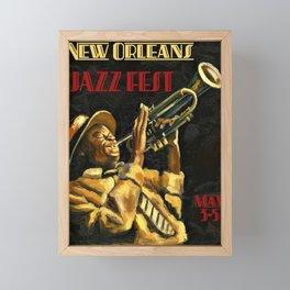 Vintage New Orleans Jazz Festival Advertising Wall Art Framed Mini Art Print