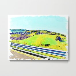 Calabrian landscape with countryside from the road Metal Print