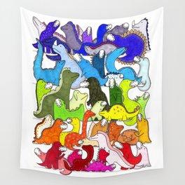 Rainbow Dinosaur Gradient Wall Tapestry