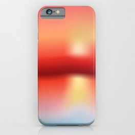 Soft colored abstract background iPhone Case