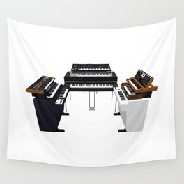 Vintage Keyboards / Synthesizers Wall Tapestry