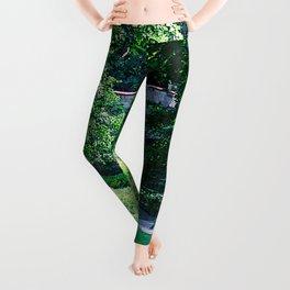 green oasis Leggings