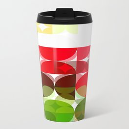 Red Rose with Light 1 Abstract Circles 3 Travel Mug