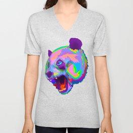 Prismatic Panda  Unisex V-Neck