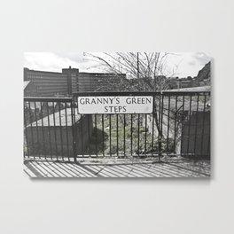 Granny's Green Steps Metal Print