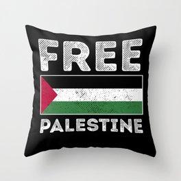 Free Gaza Palestine Flag Arabic Gift Throw Pillow