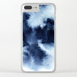 Indigo Nebula Clear iPhone Case