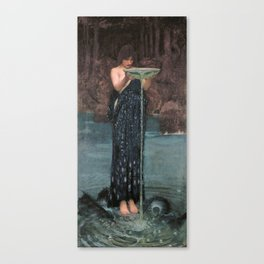 Circe Invidiosa - John William Waterhouse Canvas Print
