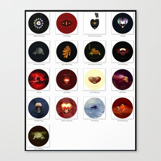 """2-1/4"""" PIN BACK BUTTONS Canvas Print"""